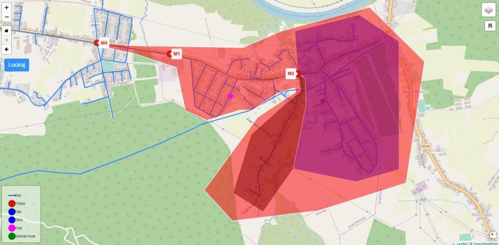 Primjer GIS preglednika lokacije Prije Mošćenice