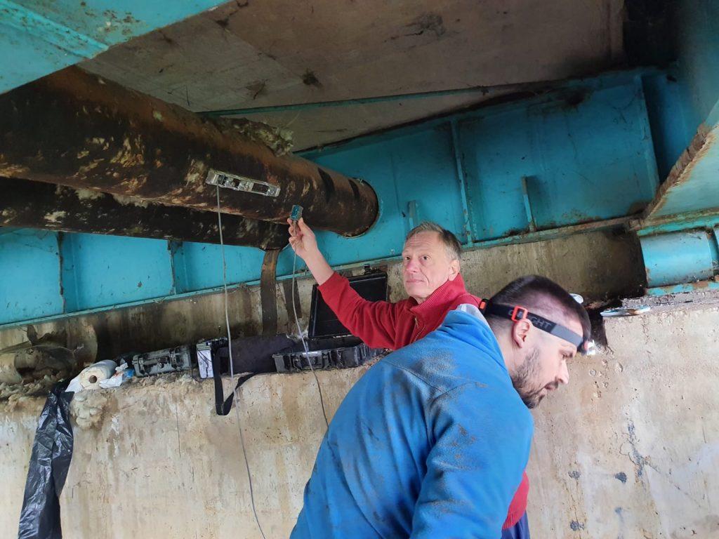 Mjerenje protoka vode ispod mosta Petrinčica